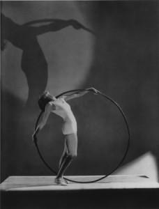 Beach Fashion with Hoola Hoop, Miss E. Carise, Paris, 1930.