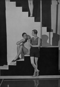 Bettina Jones, Beachwear by Schiaparelli, 1928.