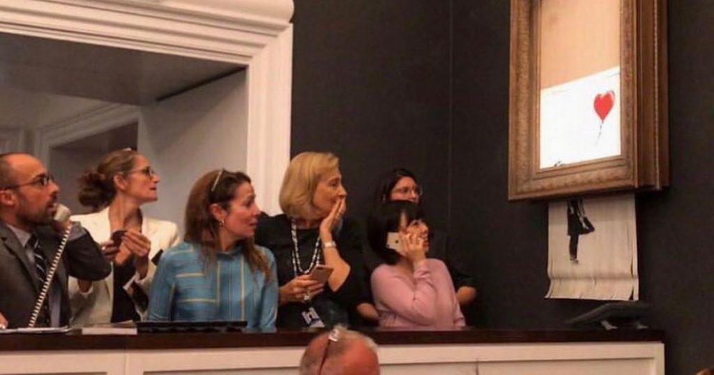 Banksy, l'opera autodistrutta a Sotheby's - Neomag.