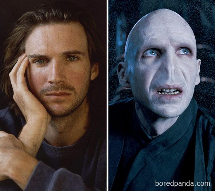 Attori Prima e Dopo il trucco - Ralph Fiennes - Lord Voldemort - Neomag.