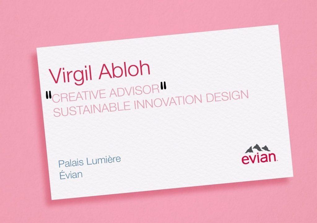 Virgil Abloh per Evian - Neomag.