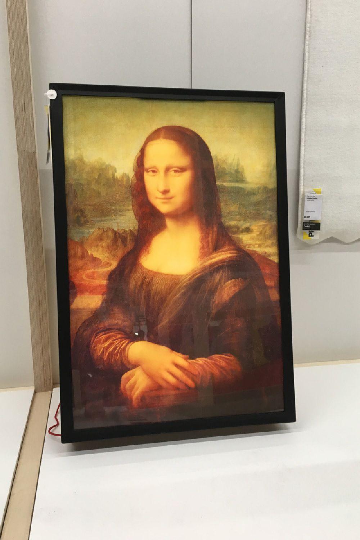 Quadro Mona Lia Off-White x Ikea - Neomag.