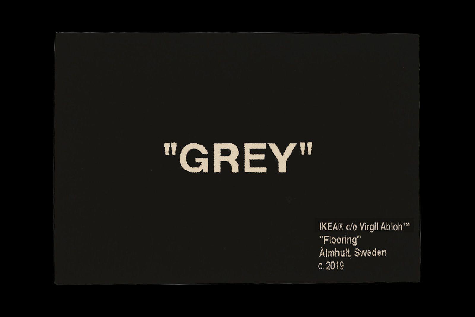 Tappeto Grey Off-White x Ikea - Neomag.