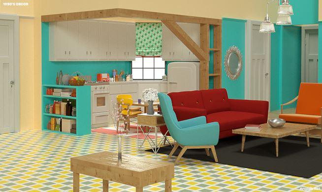 Gli anni cinquanta appartamento di Monica Friends - Neomag.