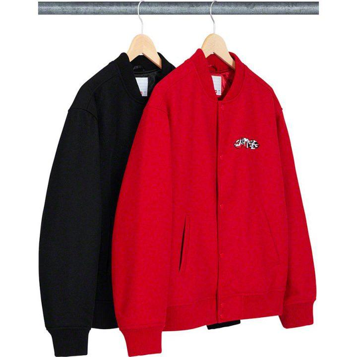 Supreme Logo Varsity Jacket - Neomag.