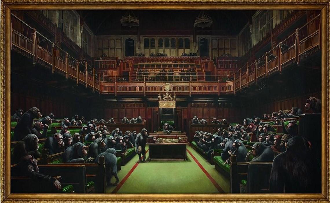 Banksy Devolved Parliament - Neomag.