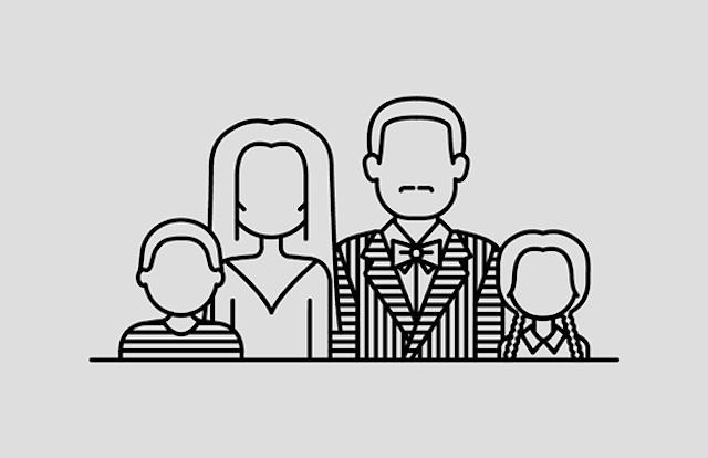 Icona Famiglia Addams - Neomag.