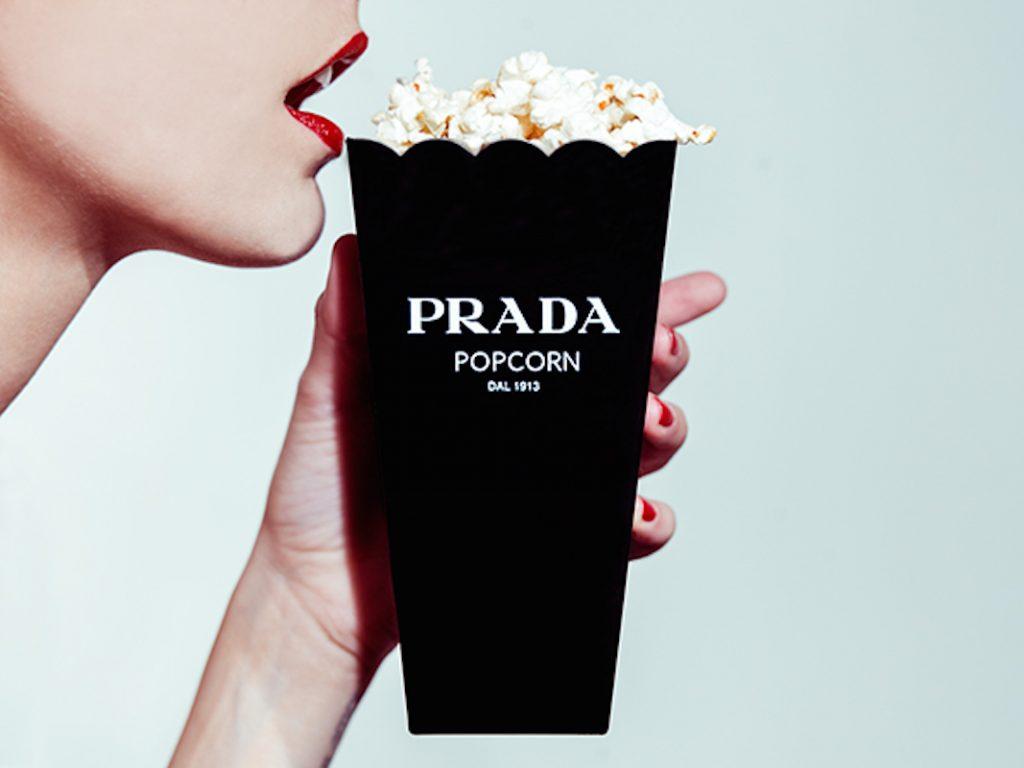 Prada popcorn by Tyler Shields - Neomag.