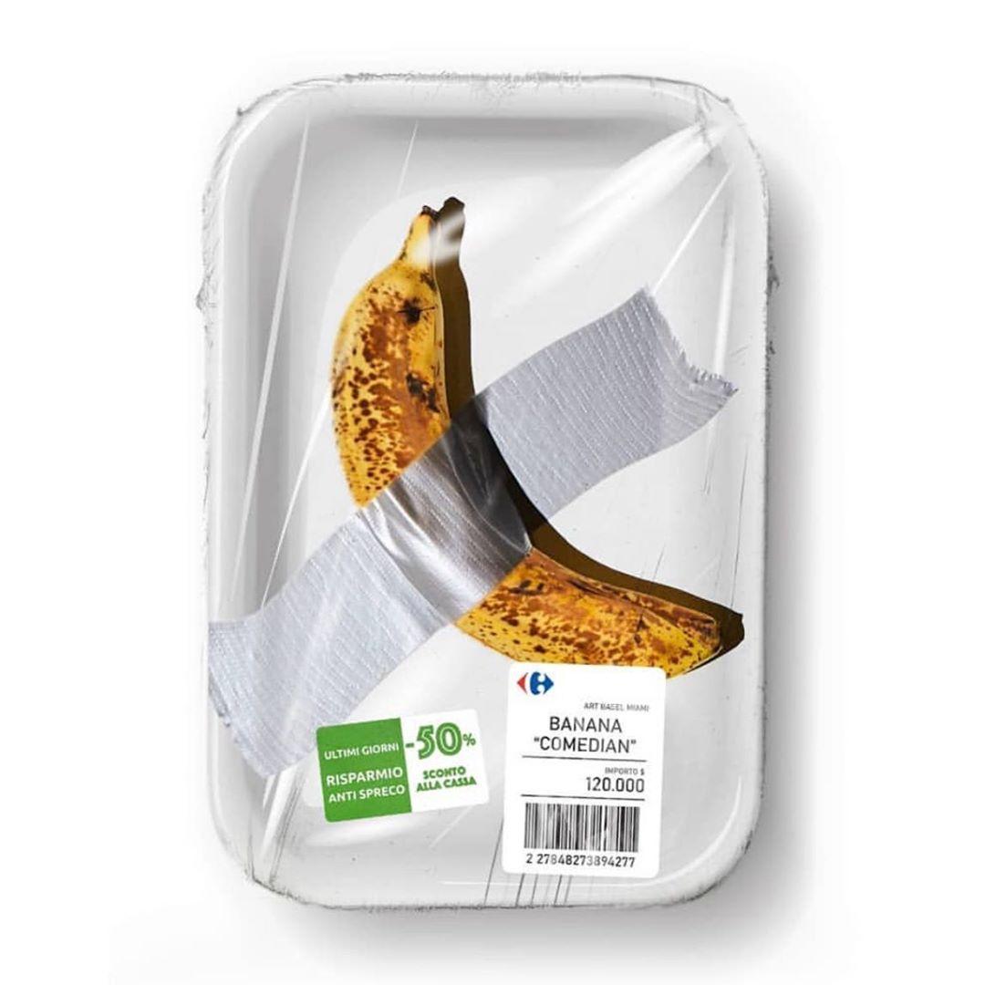 Banana di Cattelan Carrefour - Neomag.