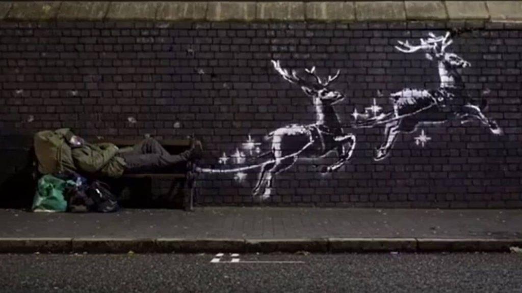 Banksy trasforma un Clochard - Neomag.