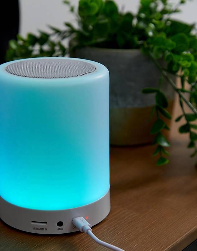 Lampada touch e speaker - neomag.