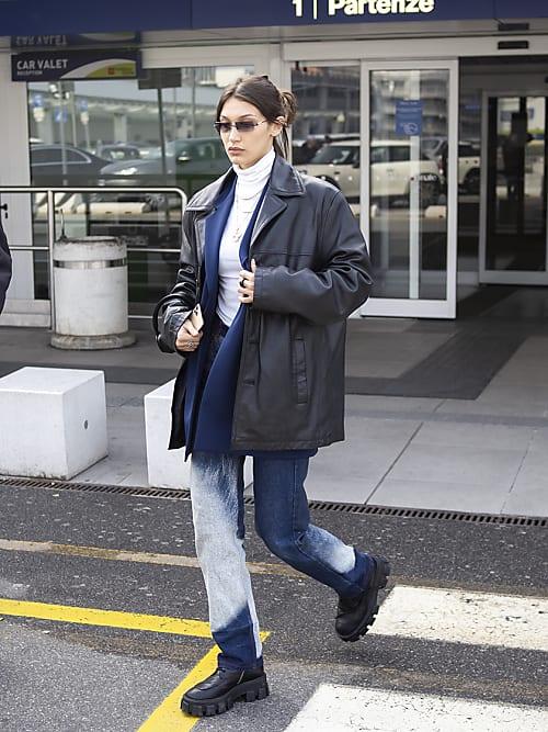 Bella Hadid con Giacca di pelle - Neomag.