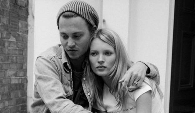 Kate Moss e Johnny Depp in una delle prime foto insieme - neomag.