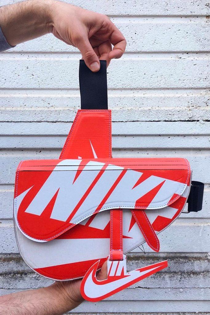 Borsa Dior ricreata con scatola Nike - neomag.