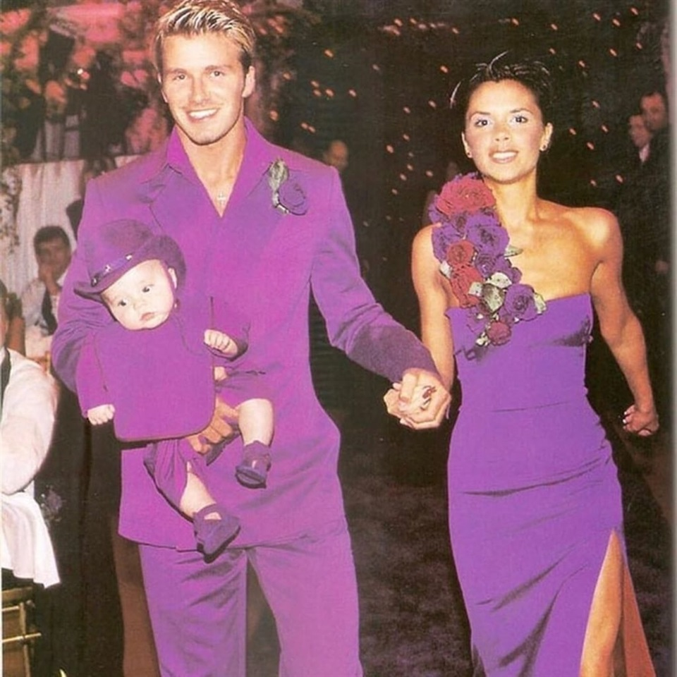 David e Victoria Beckham in viola - neomag.