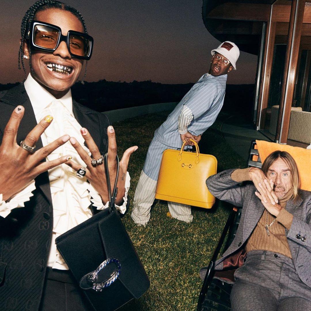 Iggy Pop, A$AP Rocky e Tyler, The Creator x gucci - neomag.