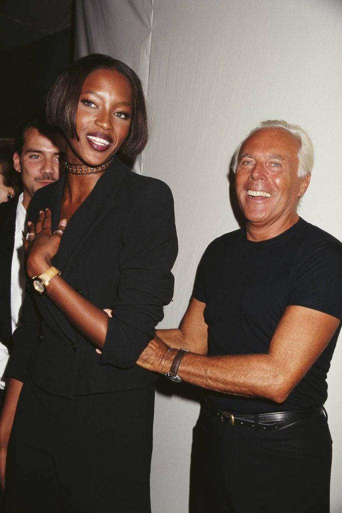 Armani e Naomi Campbell - neomag.