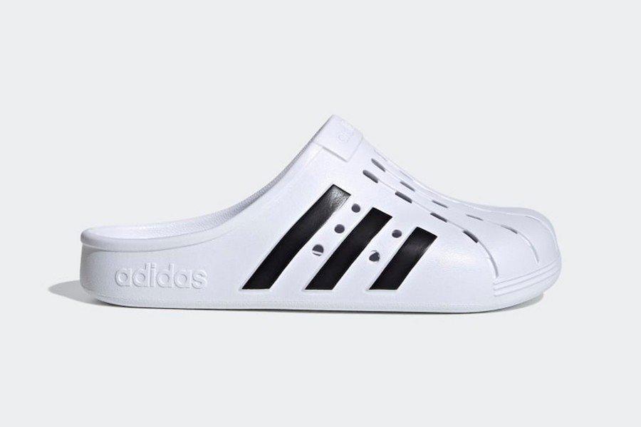 adidas adilette clogs bianca - neomag