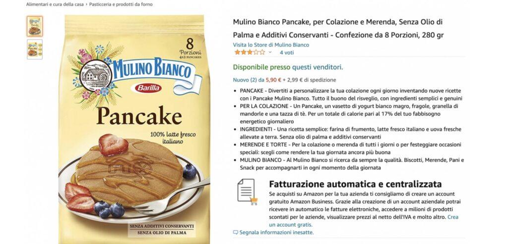 Pancakes Mulino Bianco su Amazon - neomag.