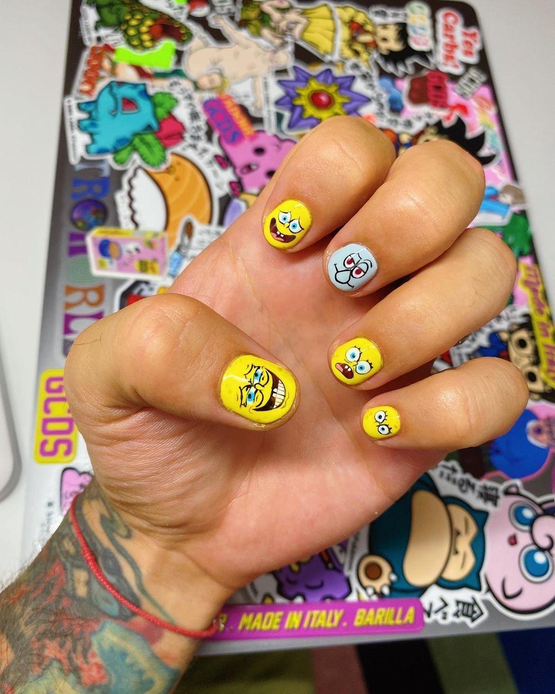 Nail art spongebob - neomag.