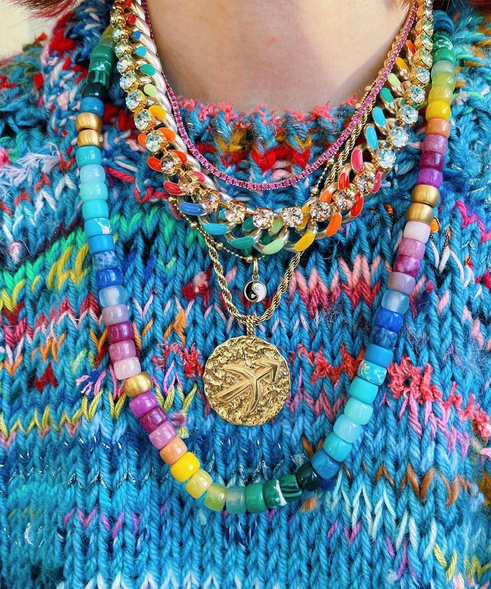 collana perline colorate - neomag
